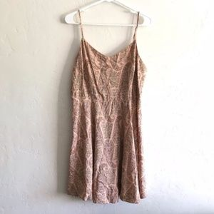 Old Navy Pink Paisley Print Fitted Cami Dress XL